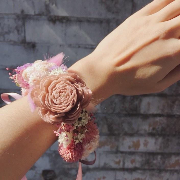 永生花手腕花-藕粉色