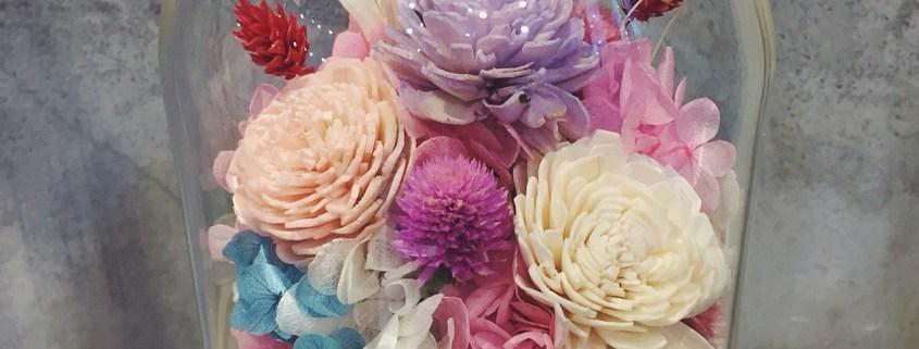 永生花課程教學台北,永生花玻璃盅罩
