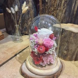 白色永生花盅罩,永生花玻璃花盅,喜歡生活乾燥花店