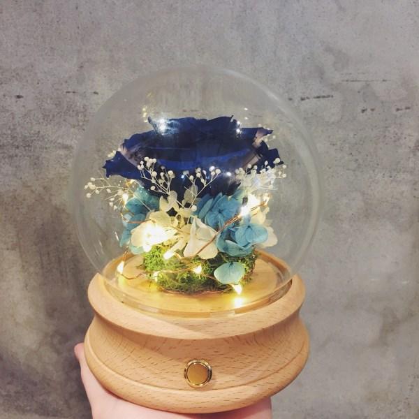 藍芽音響玻璃盅罩,原型藍芽永生花盅罩音響