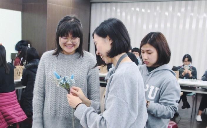 乾燥花課程教學側拍,台北乾燥花店