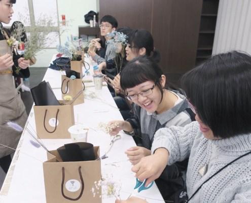 乾燥花課程側拍教學,台北乾燥花店