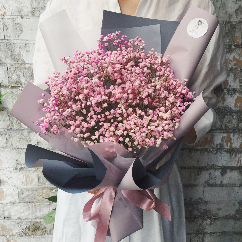 滿天星乾燥花束,畢業花束,台北畢業花束,喜歡生活畢業花束