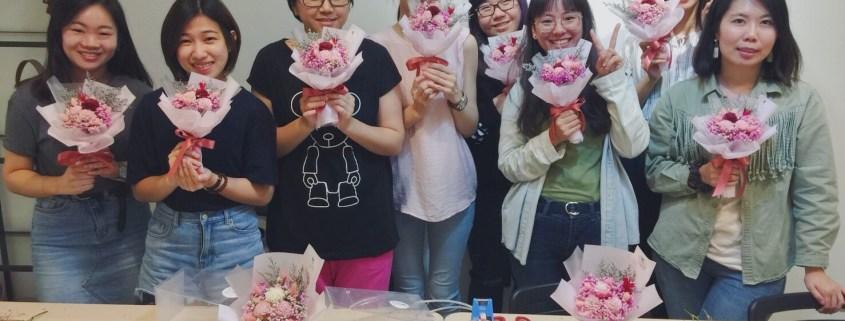 乾燥花課程教學台北,喜歡生活乾燥花店,花藝教學