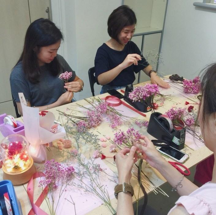 喜歡生活乾燥花教學,花藝課程教學,手作課程,乾燥花教學