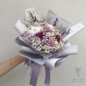 母親節乾燥花束-紫色,母親節乾燥花束推薦