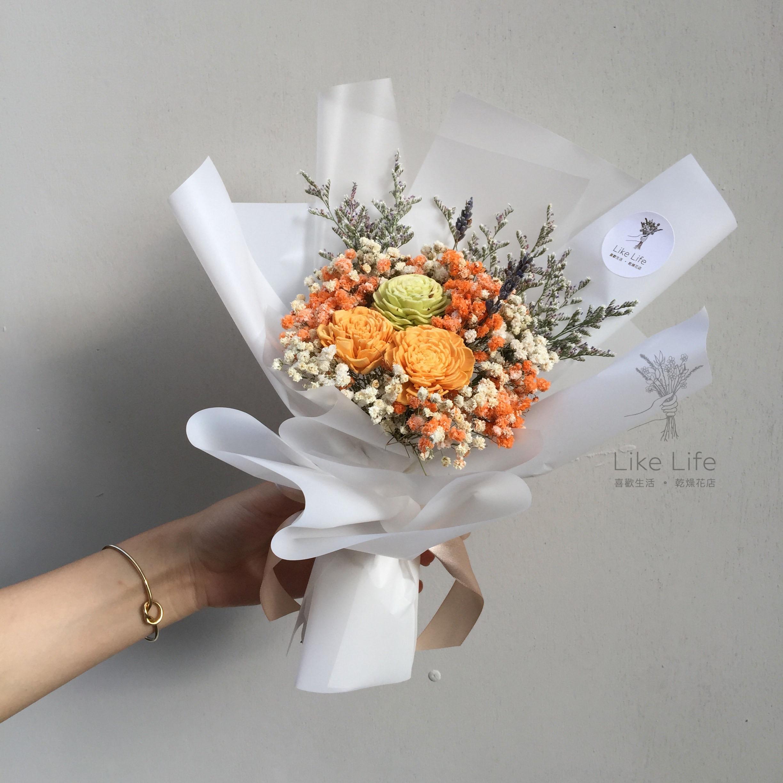 韓式花束白色封面