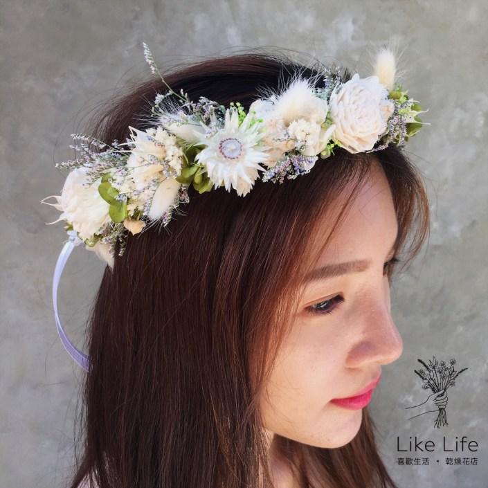 新娘花圈新娘花冠-客製款自然森林色系