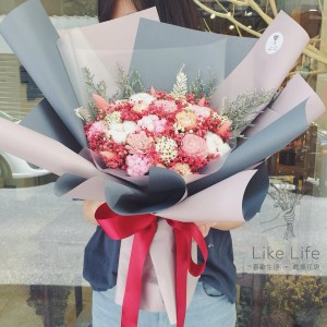 巨型乾燥花束紅色封面,巨型乾燥花束台北