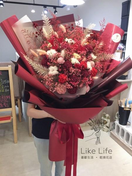 巨大花束台北,巨型乾燥花束