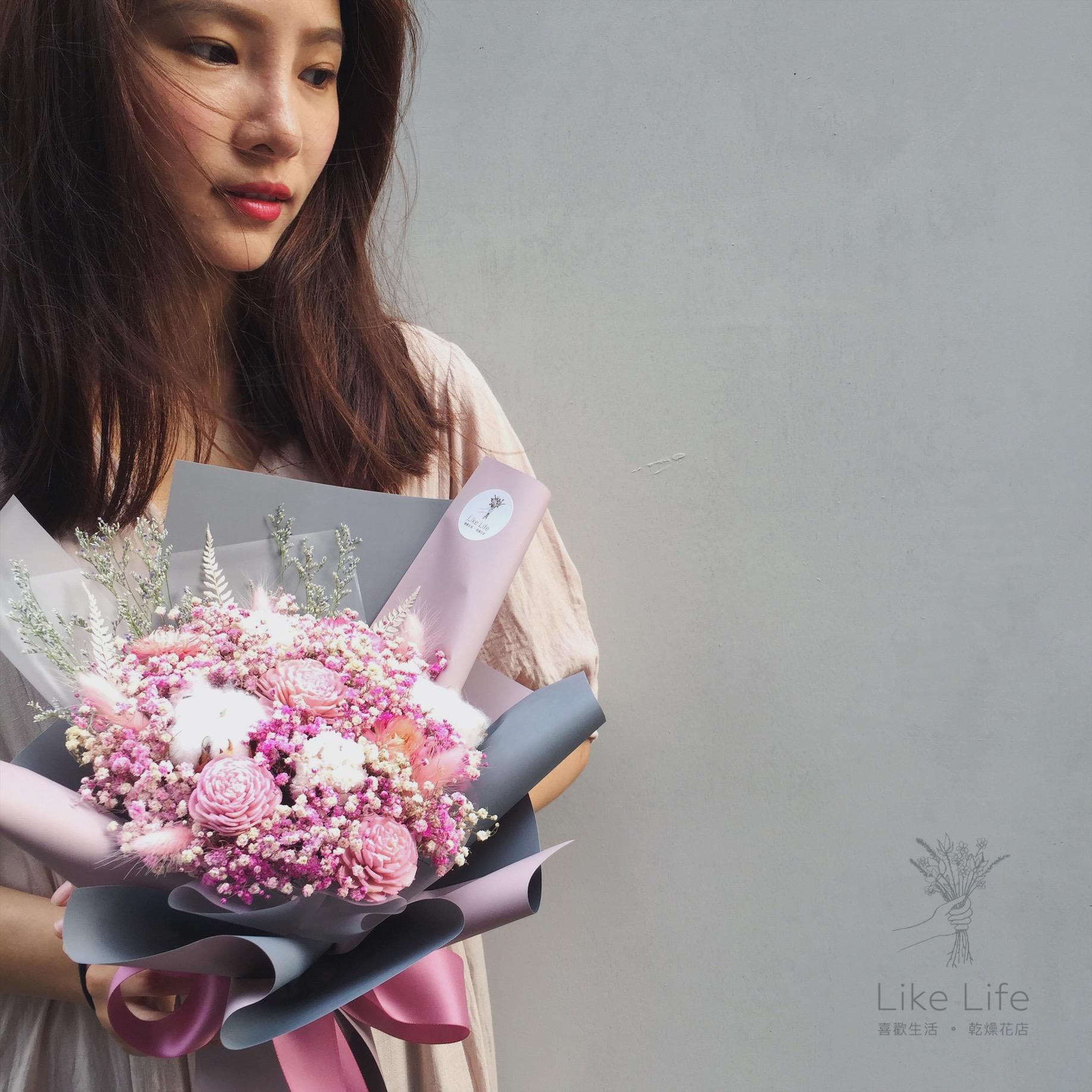 中型韓式包裝粉紅色