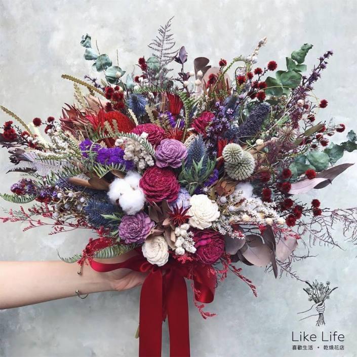美式新娘捧花-個性紅