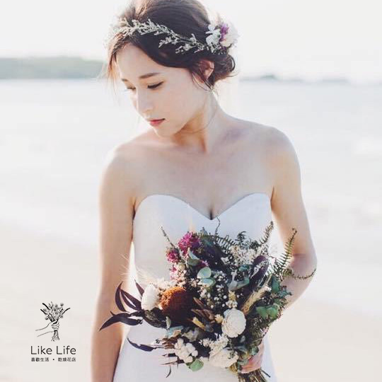 新娘捧花推薦,台北推薦的新娘乾燥花捧花,喜歡生活乾燥花店