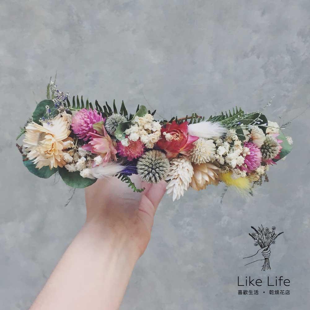2018乾燥花花圈,台北乾燥花花圈課程