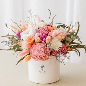 乾燥花盆栽粉色首圖,乾燥花盆栽推薦台北