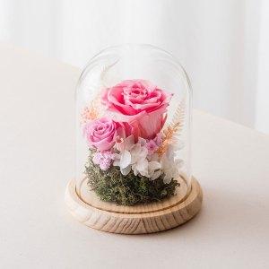 永生花玻璃鐘罩-粉色永生花封面