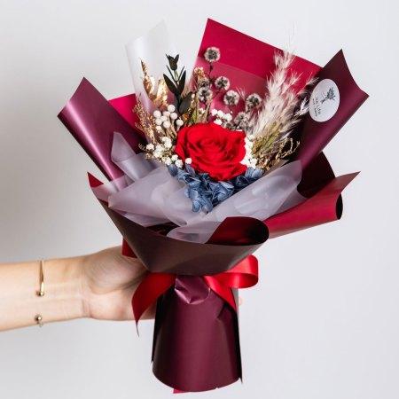 永生花束紅色,紅色永生花束封面