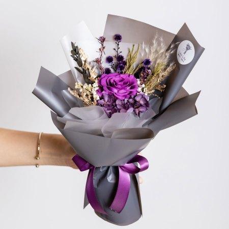永生花束-紫色永生花束封面1