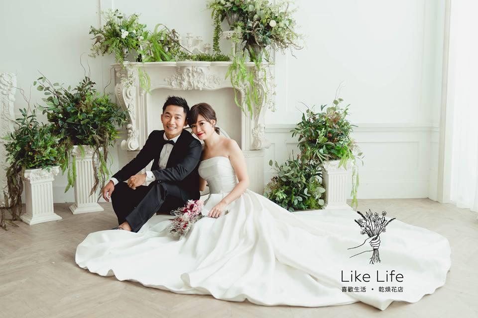 乾燥新娘婚紗捧花-蔡昌憲新人分享