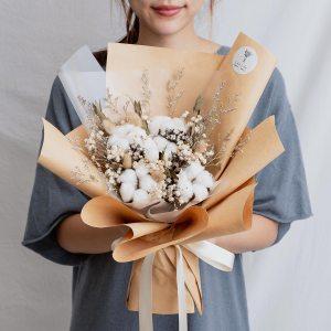求婚乾燥花束推薦,台北求婚玫瑰乾燥花束棉花花束,喜歡生活乾燥花店