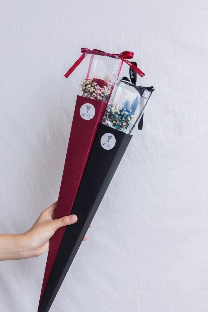 畢業花束推薦台北,單支乾燥花畢業花束-台北喜歡生活乾燥花店