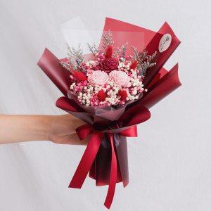 紅色玫瑰乾燥花束,玫瑰乾燥花束紅色封面,台北喜歡生活乾燥花店