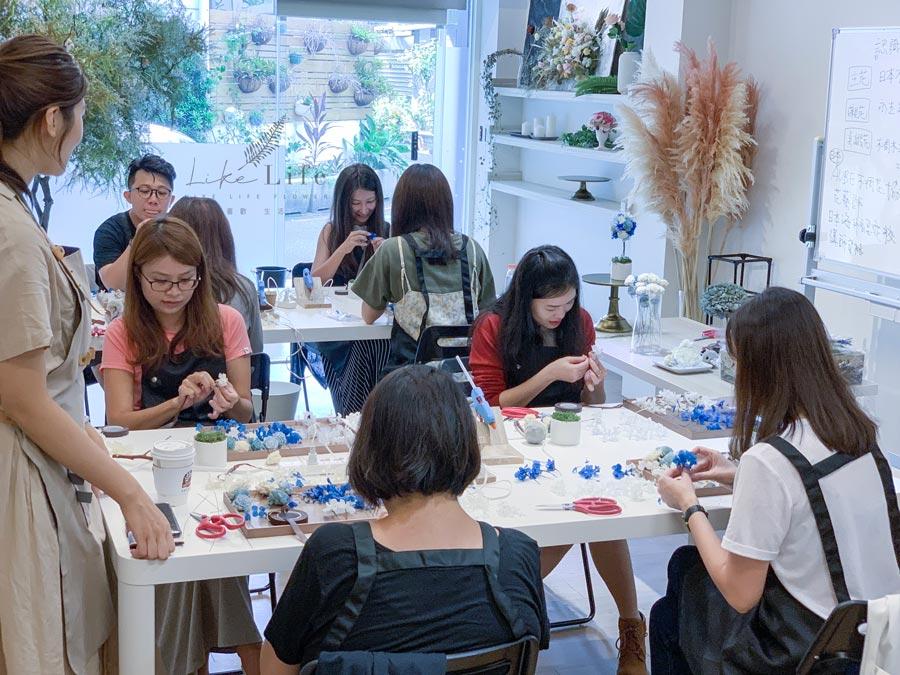 花藝教學,花藝教室台北-喜歡生活乾燥花店
