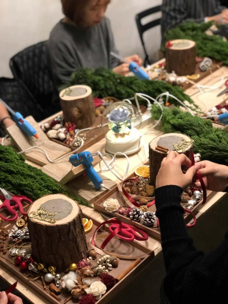 聖誕樹教學,喜歡生活乾燥花店