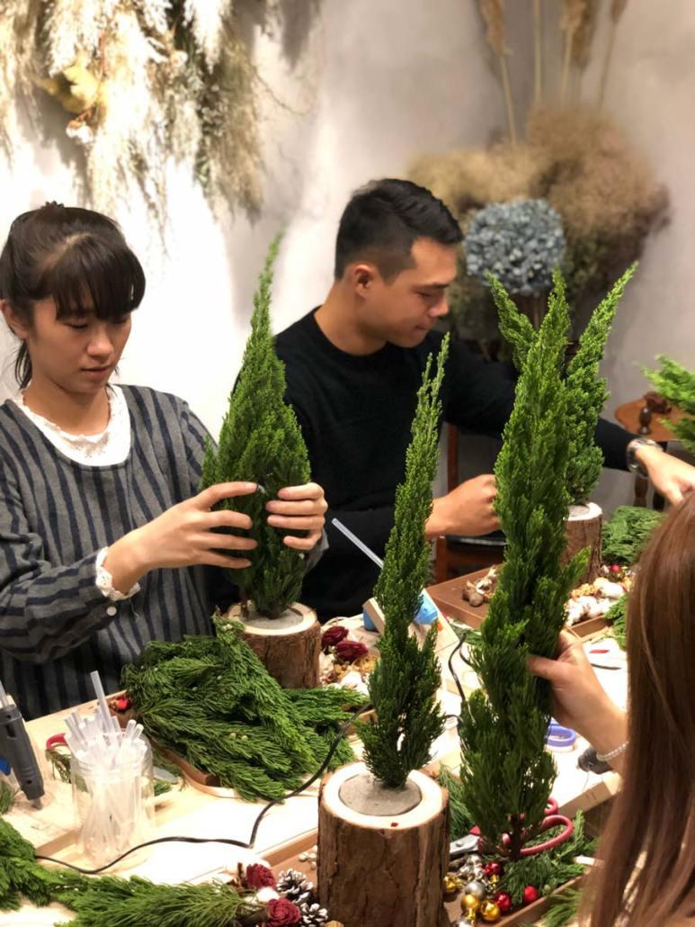 聖誕樹教學作品,喜歡生活乾燥花店
