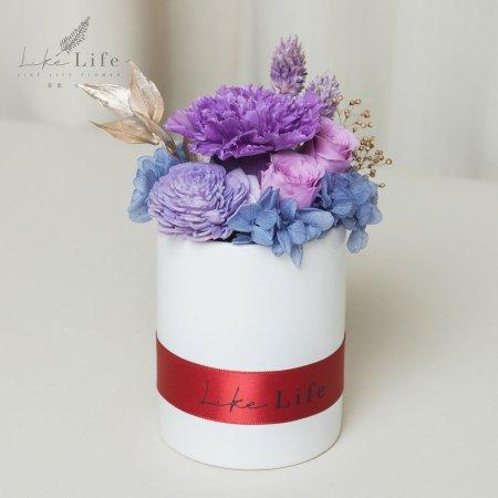 母親節永生玫瑰花盆栽紫色永生花康乃馨