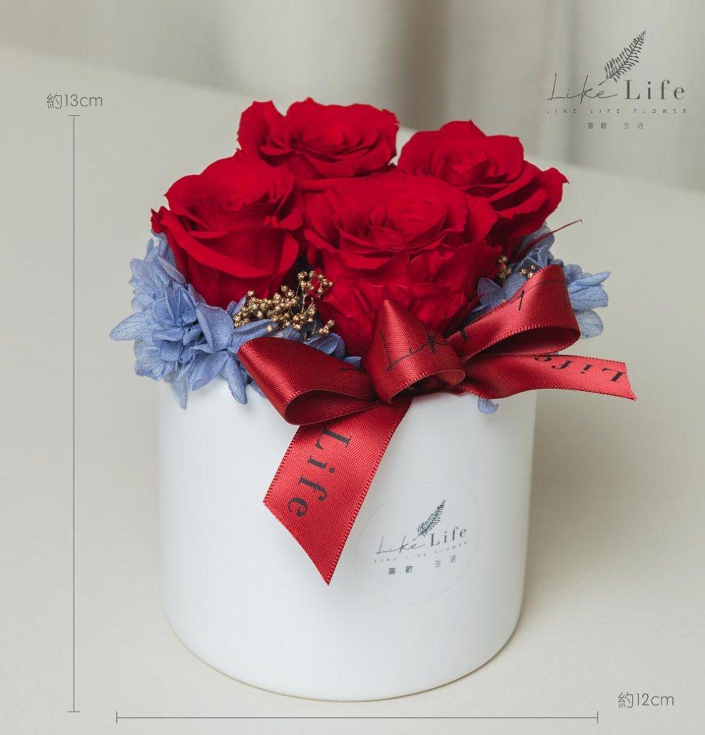 母親節康乃馨花束,紅色永生玫瑰花盆栽,永生玫瑰花