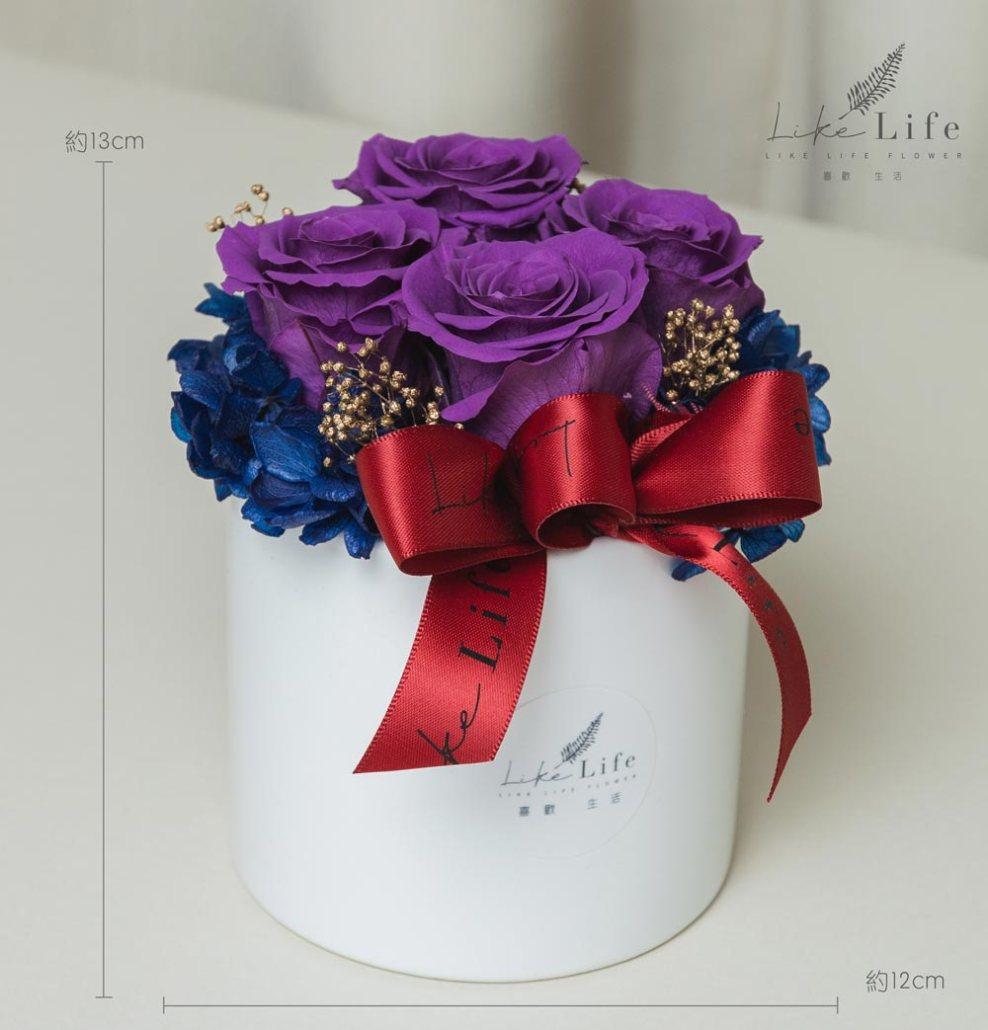 母親節康乃馨花束紫色永生玫瑰花盆栽紫色玫瑰花