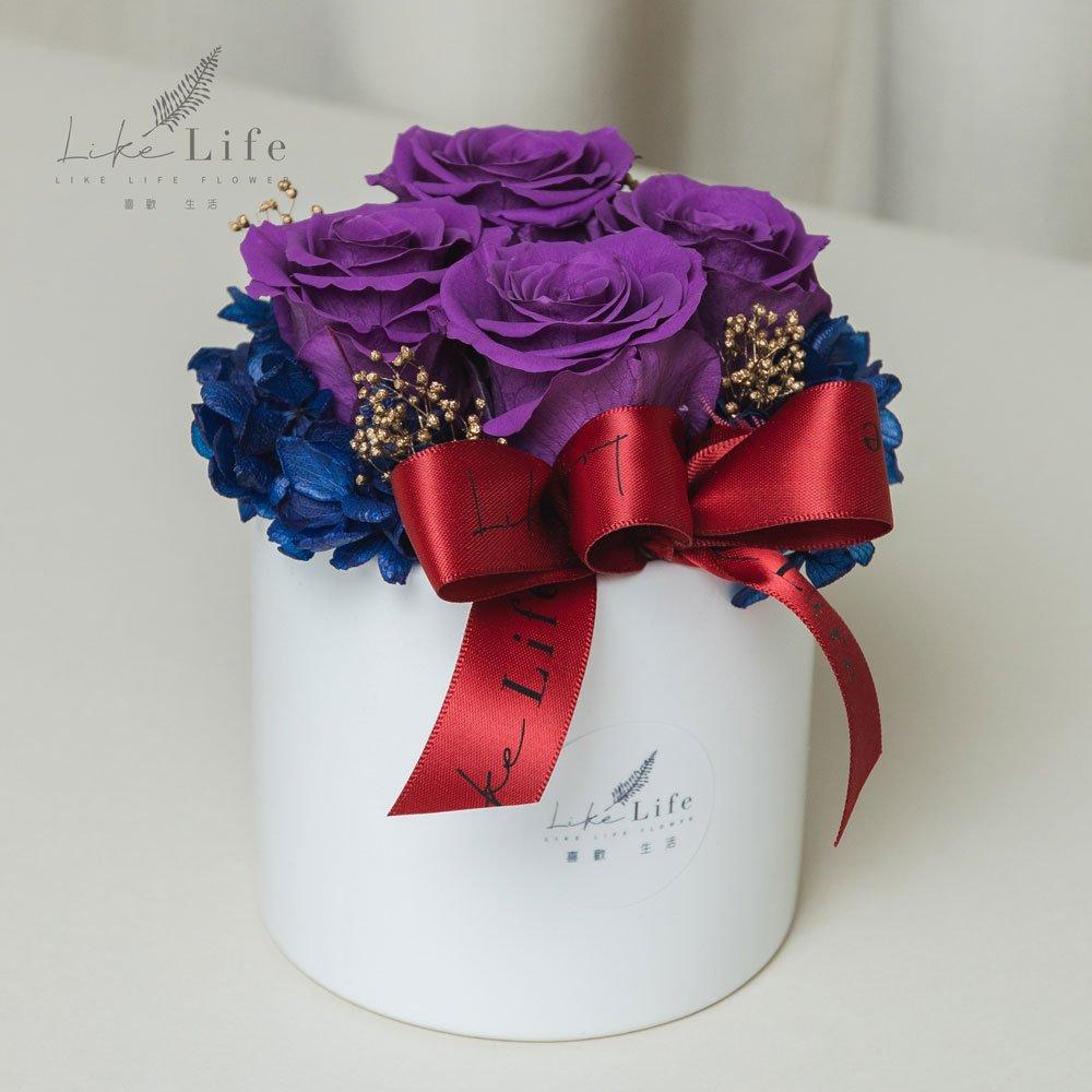 母親節永生玫瑰花盆栽紫色永生玫瑰花