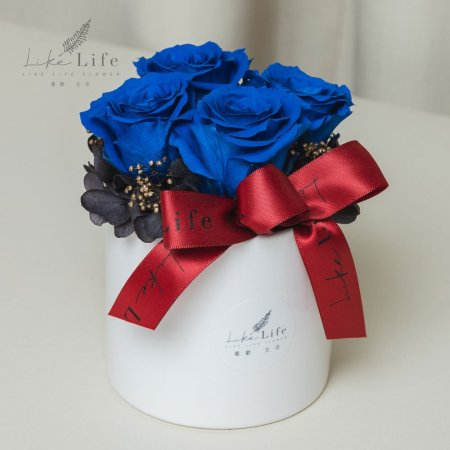 情人節永生花玫瑰盆栽藍色,藍色玫瑰花盆栽,情人節永生花藍色,情人節花束藍玫瑰