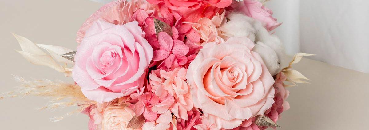 開幕盆栽永生花,銀盆開幕盆栽粉色,永生花開幕盆栽粉色推薦