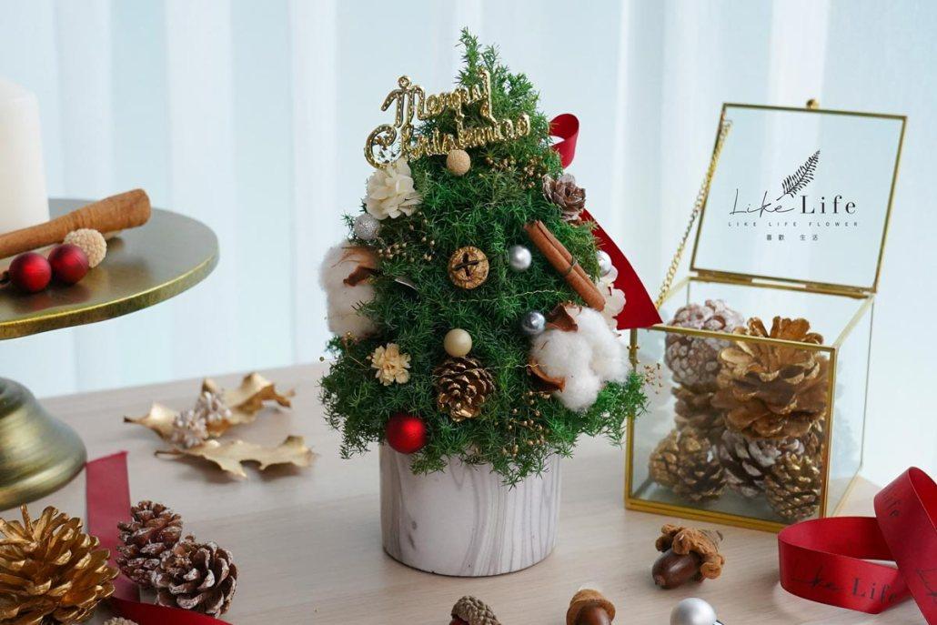 聖誕樹封面,大理石聖誕樹,喜歡生活乾燥花店,台北聖誕樹