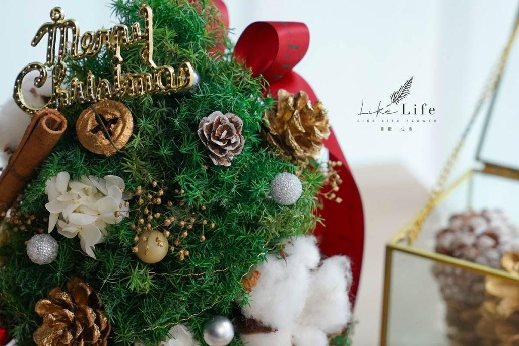 聖誕樹花材特寫,喜歡生活乾燥花店