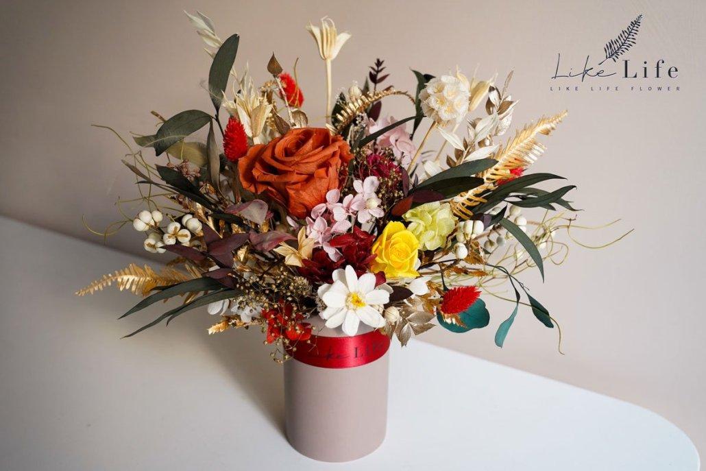 插花教學,永生花盆栽課程,花藝教學,台北喜歡生活乾燥花店
