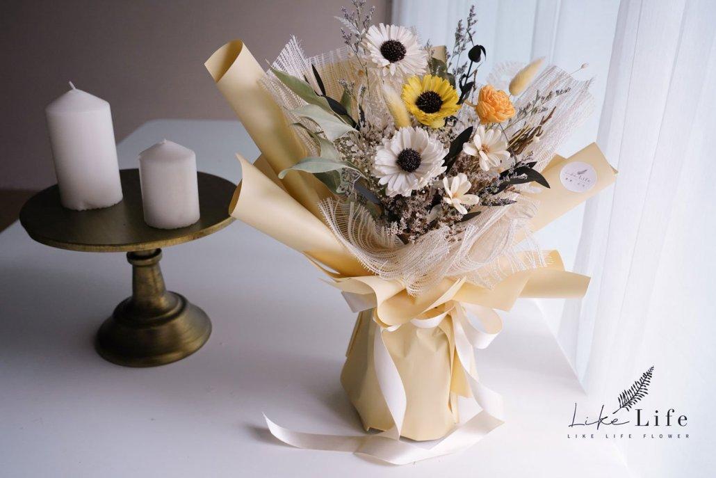 小雛菊花束包裝教學美照,花束包裝教學