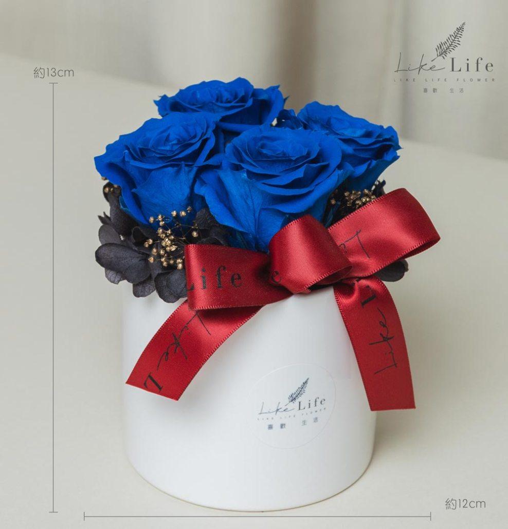 開幕盆栽藍色玫瑰花藍玫瑰花盆栽永生花開幕賀禮