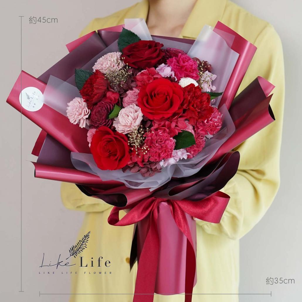 母親節康乃馨花束,公分康乃馨花束,紅色康乃馨花束,康乃馨花店