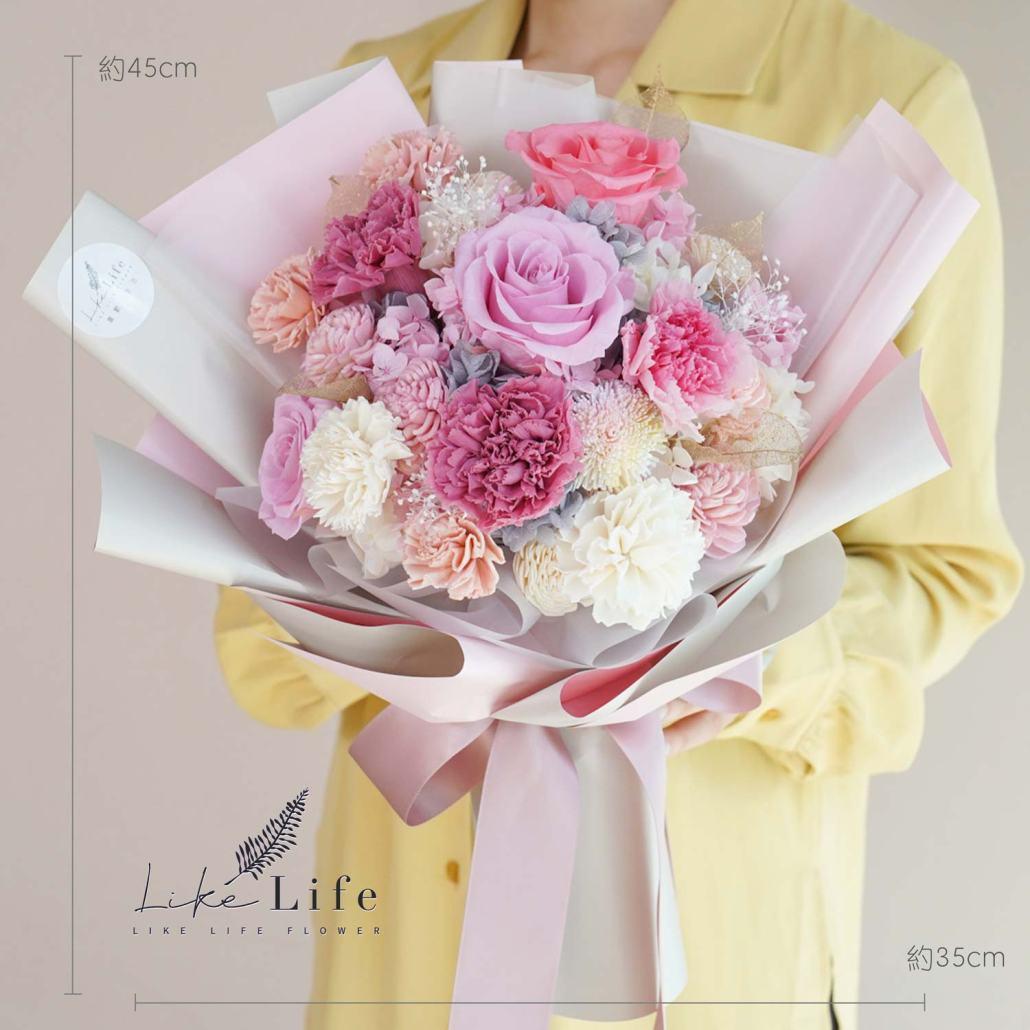 母親節康乃馨花束,康乃馨粉色公分花束,粉色康乃馨花束