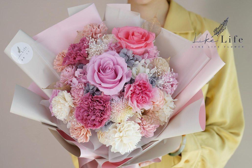 母親節康乃馨花束粉色康乃馨花束特寫
