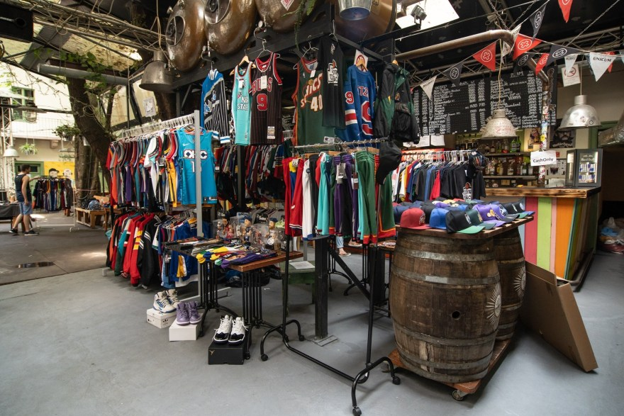 basketball-jerseys-on-display-at-ruin-bar-in-budapest