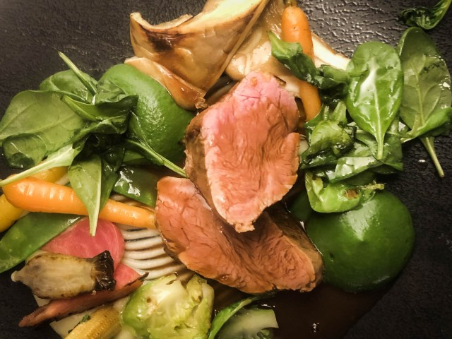 meat delicious vegetables