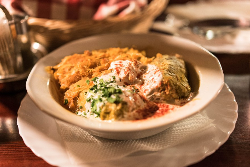 cabbage stuffed bowl sour cream