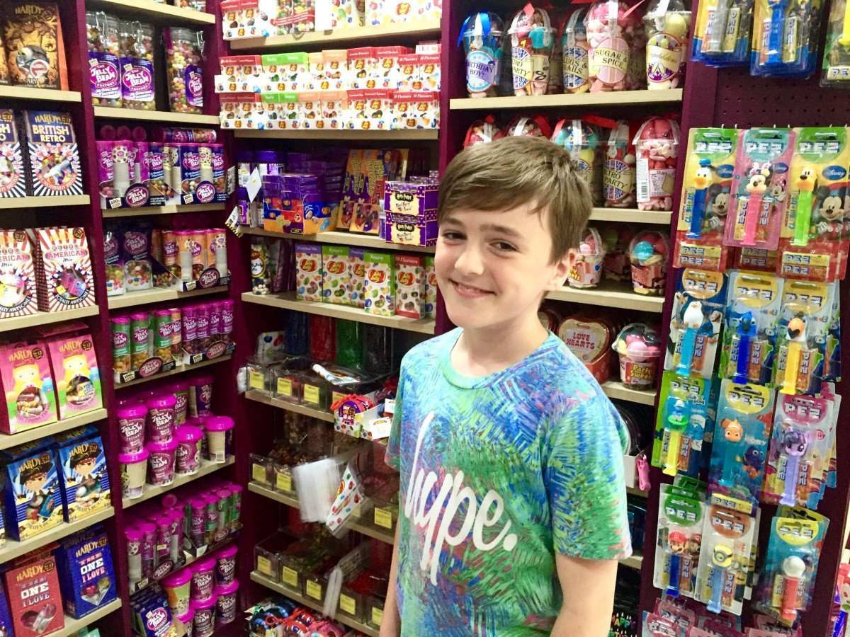 A day out in London on Regent streets traffic free sunday hardy sweet shop