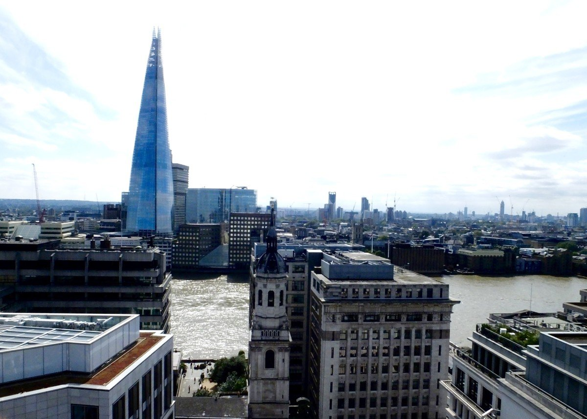 The shard viewed from the monument