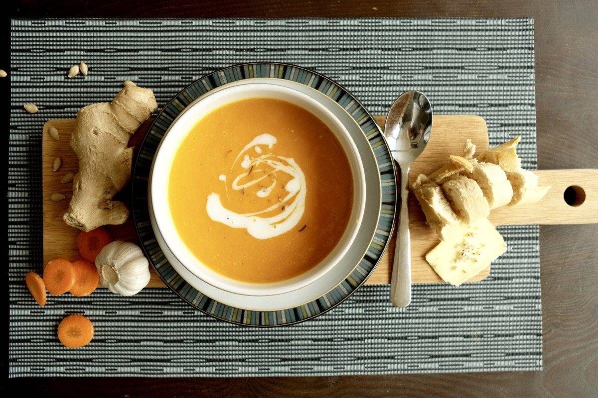 Heartwarming Butternut Squash, Carrot and Ginger Soup