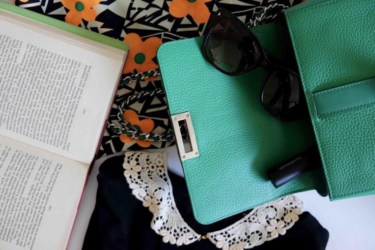 Aspinal lottie bag grass green